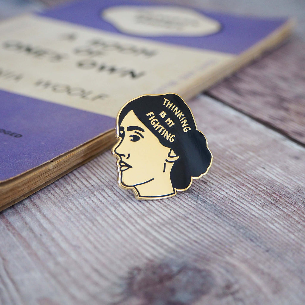 Virginia Woolf Enamel Pin - Feminist Pin