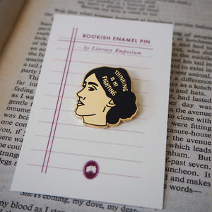 Virginia Woolf Enamel Pin - Literary Emporium