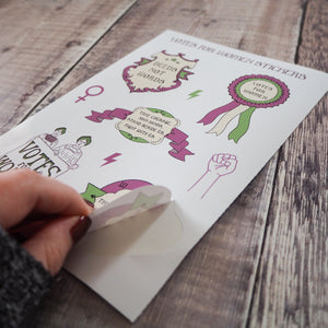 Votes for Women Vinyl Sticker Sheet - Literary Emporium
