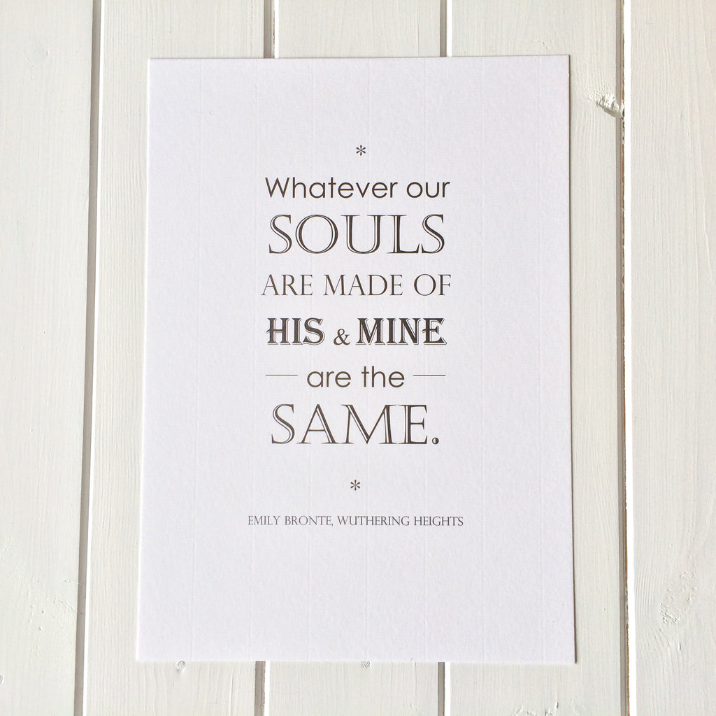 Wuthering Heights Quote Print Literary Emporium