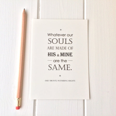 Wuthering Heights Quote Postcard - Literary Emporium