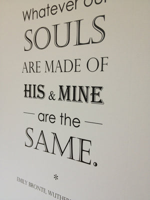 Wuthering Heights Quote Print - Literary Emporium