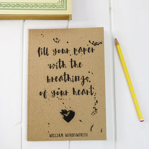 Wordsworth Quote A5 Notebook - Literary Emporium