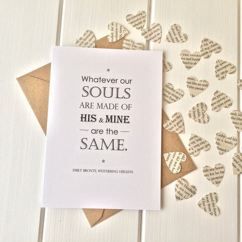 Wuthering Heights Valentines Card - Literary Emporium