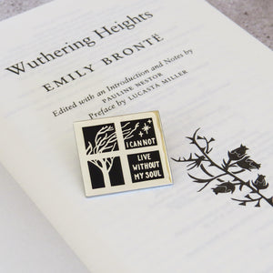 Wuthering Heights Enamel Pin - Gothic Literature Collection - Literary Emporium