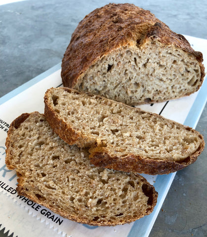 Identity Preserved, Cracked Wheat Hearth Bread (finish baking at home)