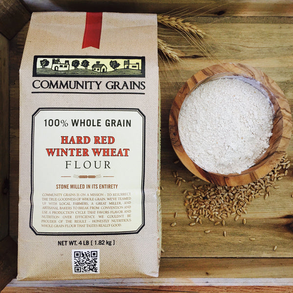 Hard Red Winter Wheat Flour: 4lb & 25lb Bags