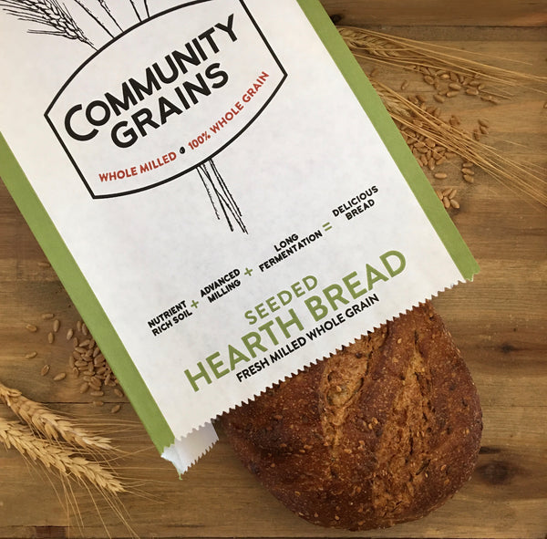 Identity Preserved, Seeded Hearth Bread  – Finish Baking at Home