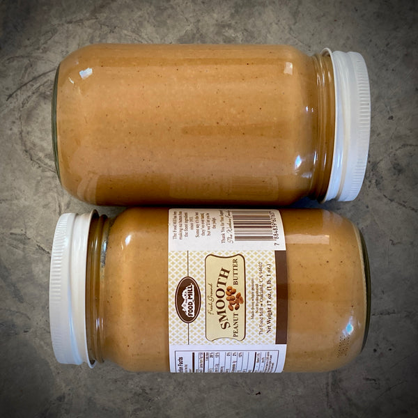 Slow Milled Peanut Butter by The Food Mill: 17oz Jar