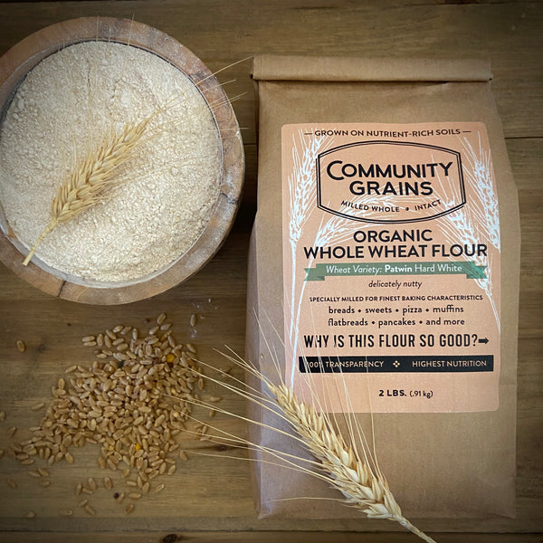 Identity Preserved, Organic Patwin Hard White Winter Wheat Flour: 2, 4 & 25 lb Bags