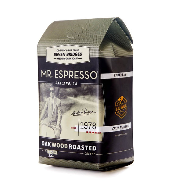 Seven Bridges Blend Coffee by Mr. Espresso: Whole Bean, Organic, Fair Trade