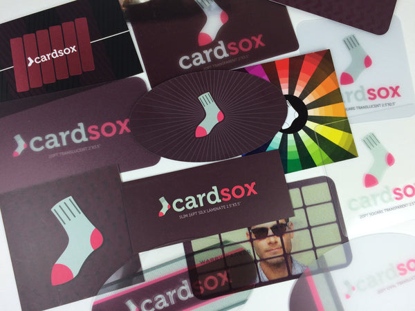 Card Sox business card sample pack.