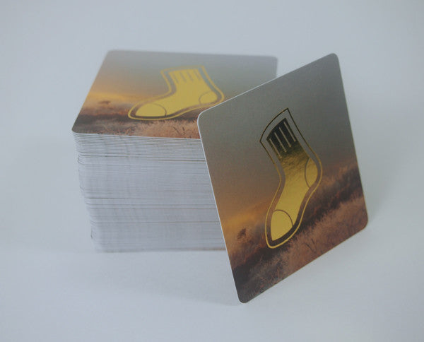 Square Gold Foil Cards