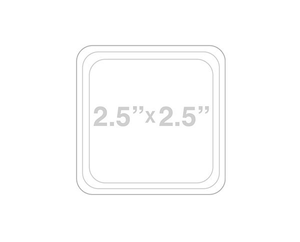 Square Round Corner Card Template