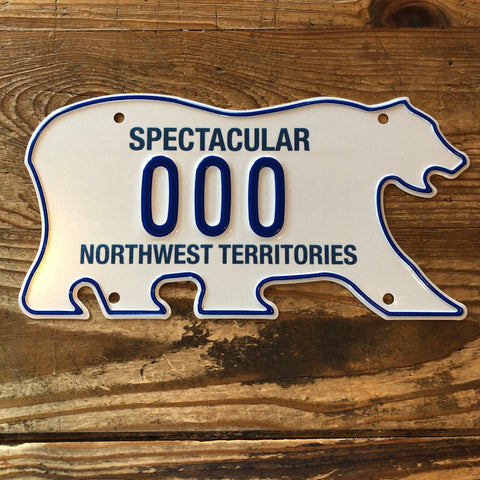 NWT Polar Bear License Plates