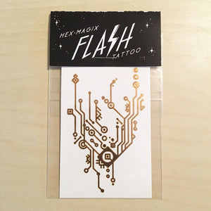 HexMagix Circuitry Flash Tat