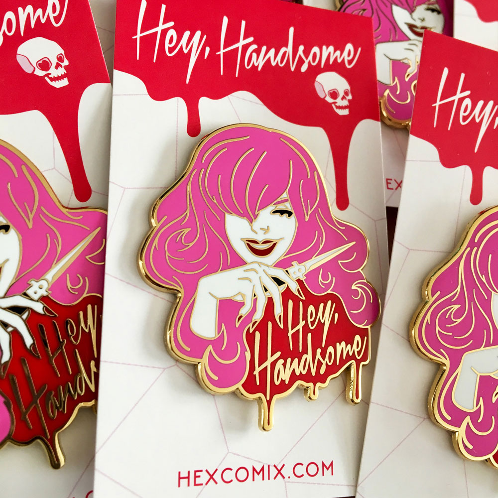 HEX11 Enamel Pin - Hey Handsome