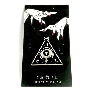 HexComix Enamel Pin - Tri Eye