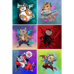 """Star PURRS: The FURce Awakens"" Dragon Kitties 6-Print Set"