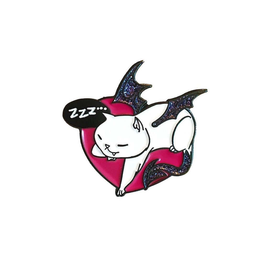 "Dragon Kitty Enamel Pin - ""Snoozer"""