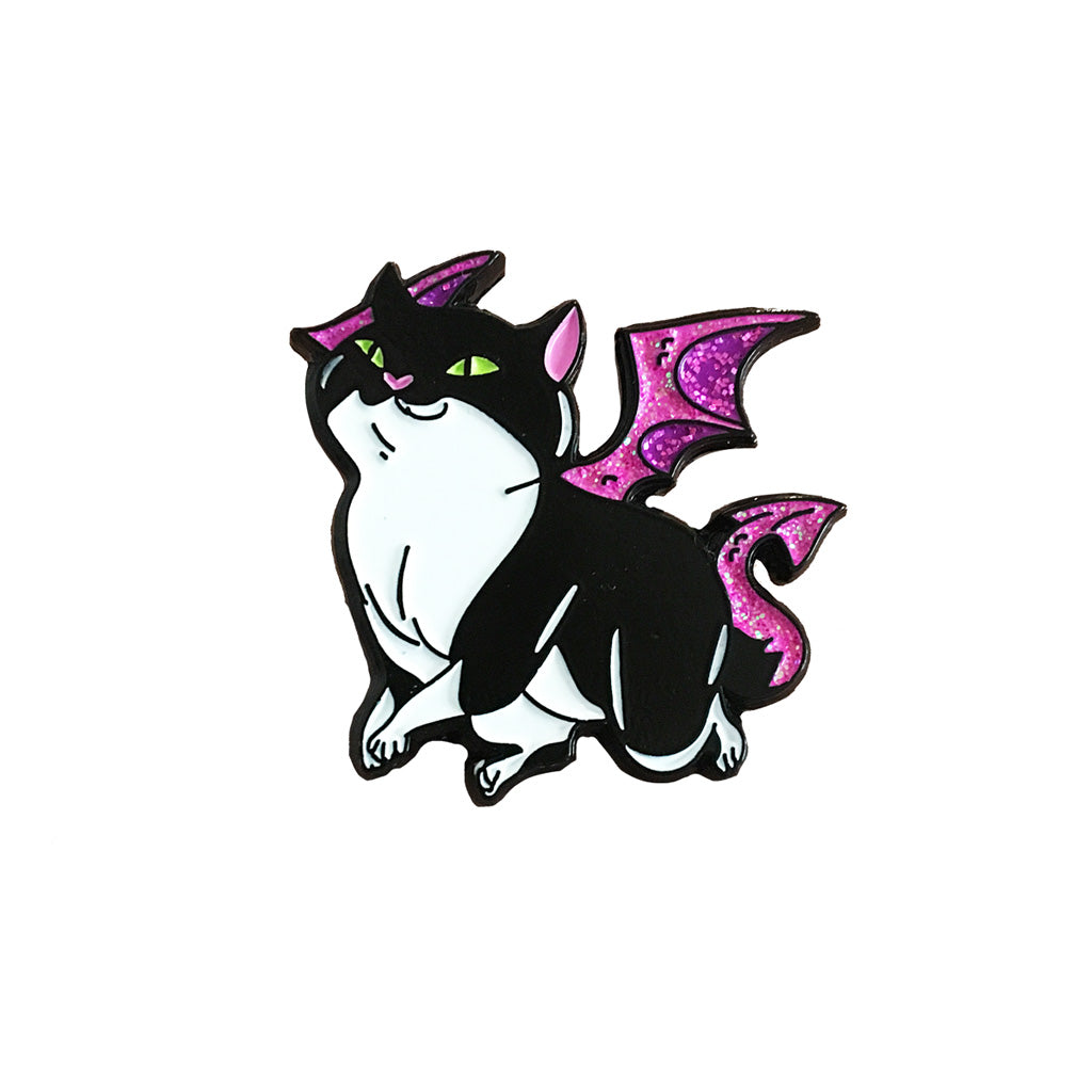 "Dragon Kitty Enamel Pin - ""Tiny"""