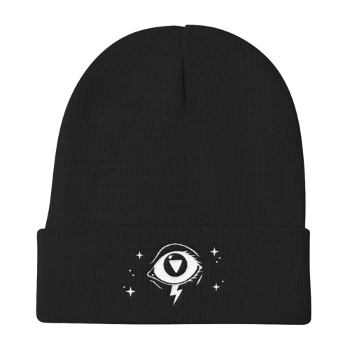 3rd Eye Knit Beanie in Black