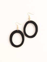 Natural cut Horn Hoop Earrings
