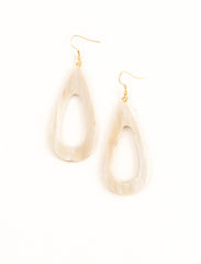 Horn Tear Drop Earrings