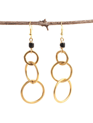 Brass Circus Earrings