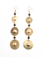 Brass Echo Earrings