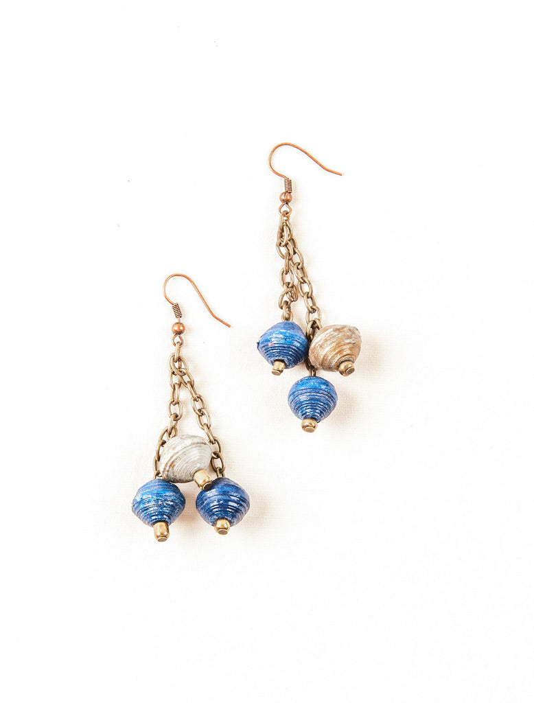 Paper Bead drops Earrings