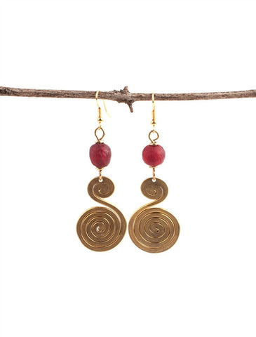 Infinite Brass Earrings