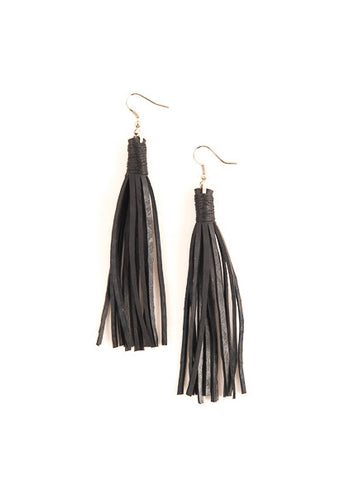 Rubber Tassle Earrings