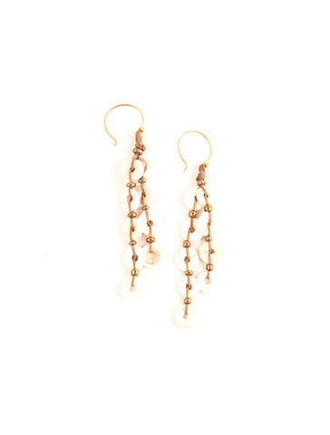 Ostrich Shell Earrings