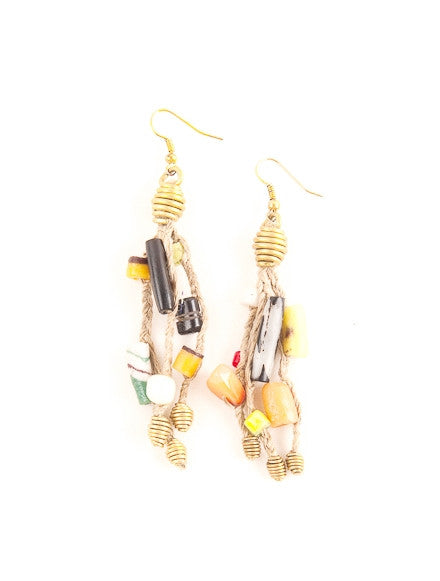 West African Drop Earrings