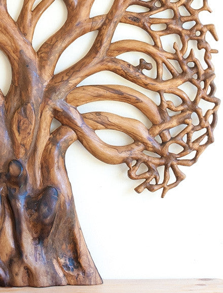Hand carved tree of life