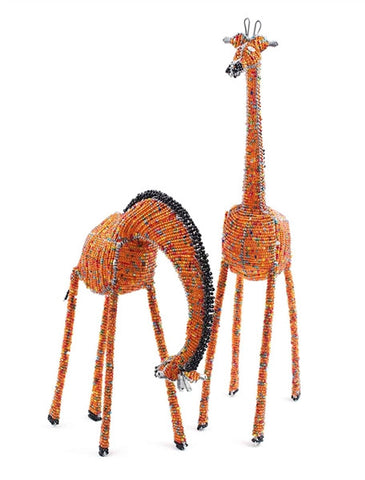 Glass beaded Giraffe standing