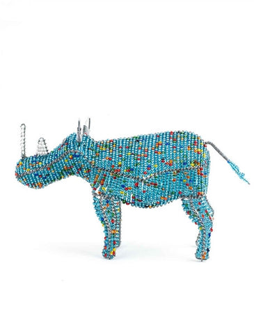Glass beaded Rhino
