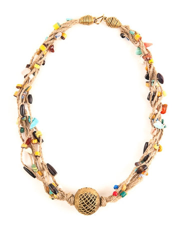 West African Twirl Necklace