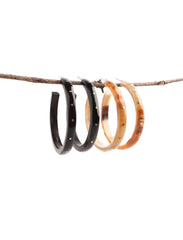 Cow Horn Hoop Earrings