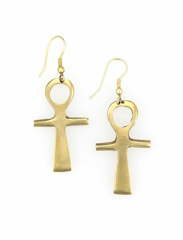 Ankh Cross Earrings