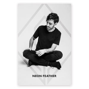 Neon Feather Poster