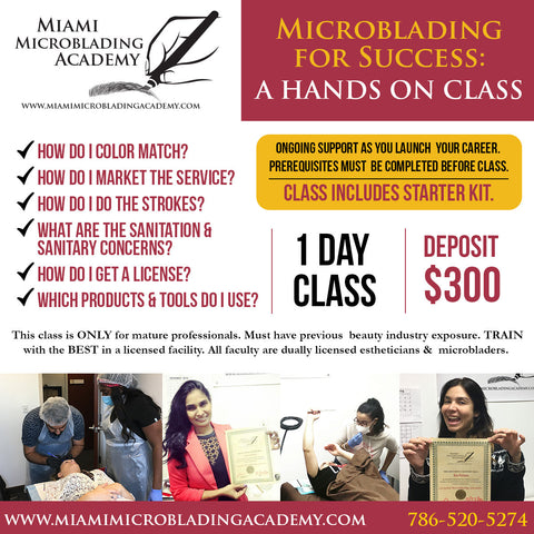 microblading class, miami fl tattoo license