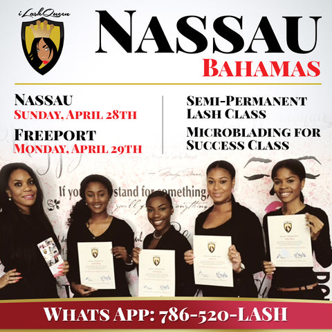DEPOSIT for iLashQueen Semi-Permanent Eyelash Extension NASSAU CLASS