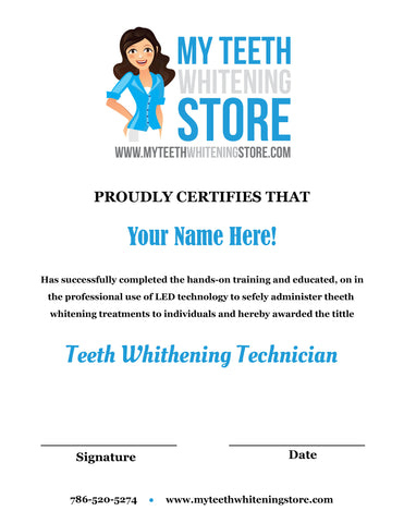 Duplicate Certificate for Certified Teeth Whitening Students