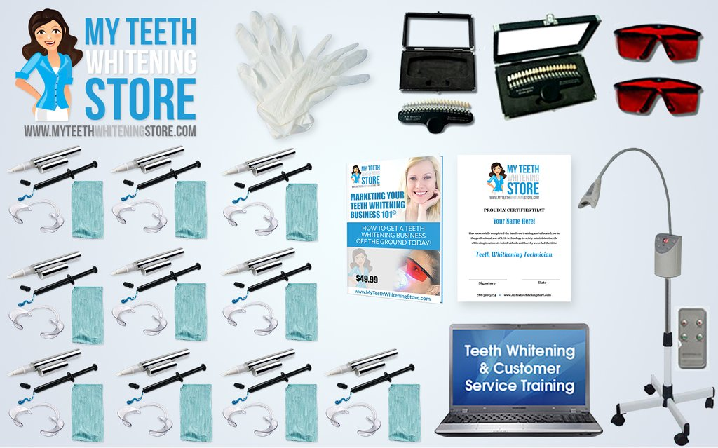 Full Teeth Whitening Program with 10 Client Kits