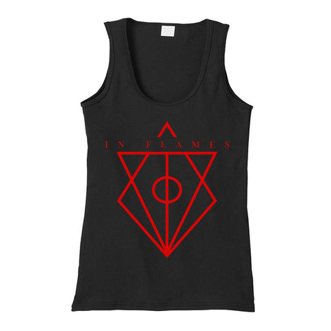 In Flames Jesterhead Tank Top in Black