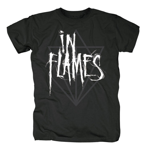 In Flames Scratch Jesterhead Logo T-Shirt