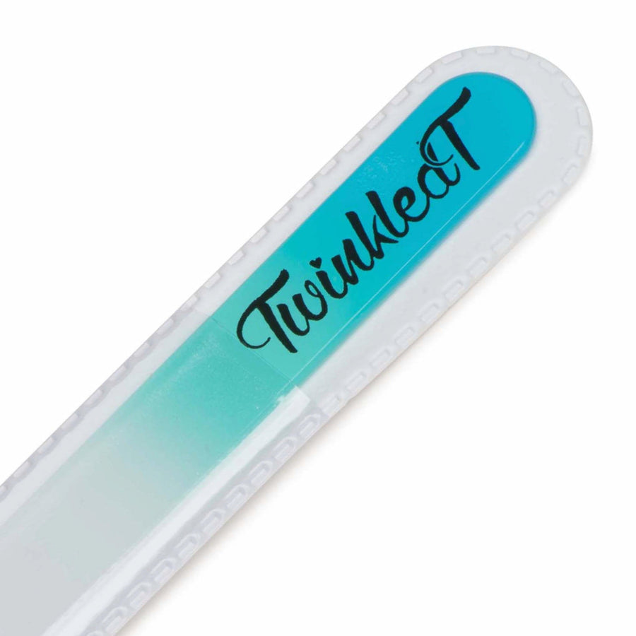 Turquoise Mont Bleu Glass Nail File