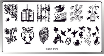 Birds Stamping Plate